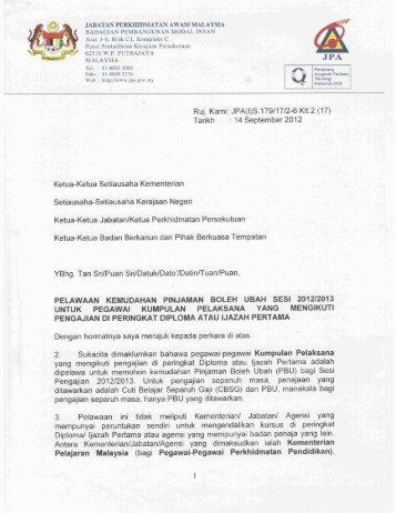 1) surat pelawaan kemudahan pinjaman boleh ubah sesi 2012 ...