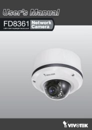 User Manual: Vivotek FD8361 - HomeAlarm.dk