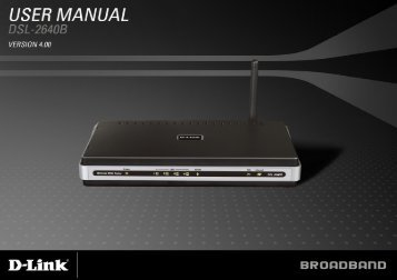 Table of Content D-Link DSL-2640B User Manual 1 - FTP Directory ...