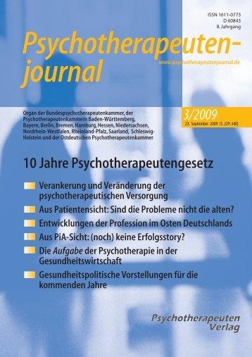 Diplom- Psychologen - Psychotherapeutenjournal