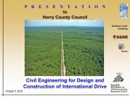 Civil Engineering for Design and Construction of International Drive