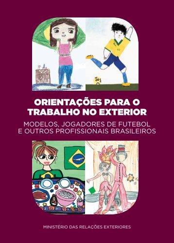 Orientações para O trabalhO nO exteriOr - Brasileiros no Mundo ...
