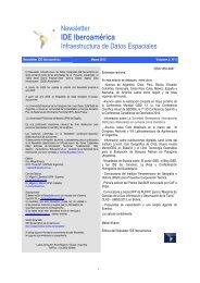 Newsletter IDE Iberoamérica - RedGeomatica - RedIRIS
