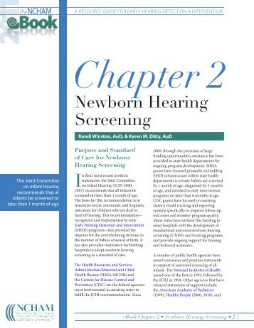 Newborn Hearing Screening - CommonHealth