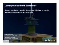 Lower your load with Dyneema