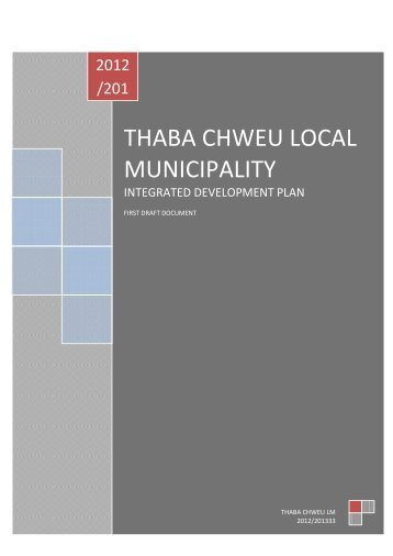 Thaba Chweu Local Municipality - Co-operative Governance and ...