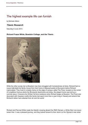 PDF Version - Encyclopedia Titanica