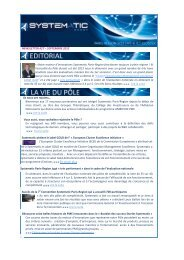 NEWSLETTER #27 – SEPTEMBRE 2012 « Notre ... - Systematic