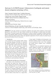 Enhancement of earthquake and tsunami disaster mitigation ...