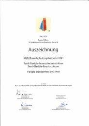 Textile - Flexible Rauch.- und Brandschutz-Systeme