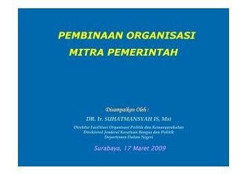 Pembinaan Organisasi Mitra Pemerintah (Jejaring Kemitraan)