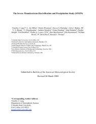 The Severe Thunderstorm Electrification and Precipitation Study ...