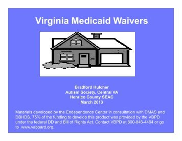 Medicaid Waivers - Henrico County Public Schools