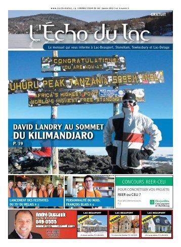 DU KILIMANDJARO - L'Écho du Lac