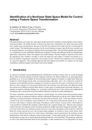 Identification of a Nonlinear State Space Model for Control using a ...