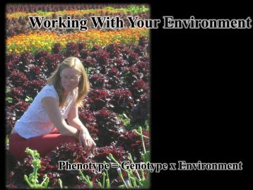 Working With Your Environment - Oregon Small Farms