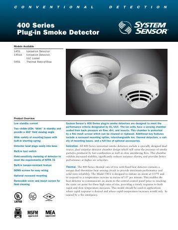 Heat Detector Series 400 Fenwal Protection Systems
