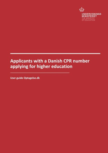 Applicants with a - Optagelse.dk