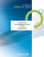 2006-2007 - Secrétariat du conseil du trésor - Gouvernement du ...