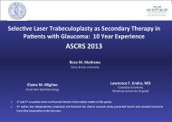 Selective Laser Trabeculoplasty as Secondary Therapy in Patients ...