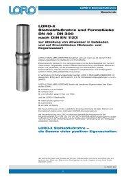LORO-X Stahlabflußrohre und Formstücke DN 40