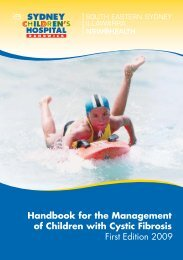 Handbook for the Management of Children with Cystic Fibrosis