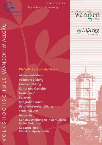 6,65 MB - Volkshochschule Wangen