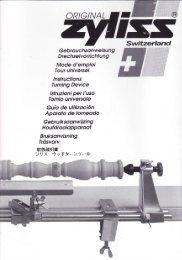Zyliss Torno Lathe Manual