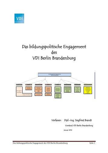 Das bildungspolitische Engagement des VDI Berlin Brandenburg