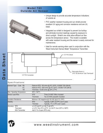 Model 743 Datasheet - SRP Control Systems