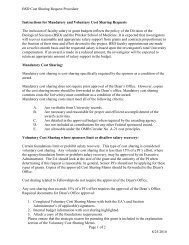 Instructions for Mandatory and Voluntary Cost Sharing Requests