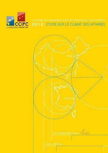 2012 EtudE sur lE Climat dEs affairEs - ccifc