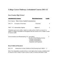 College Career Pathways Articulated Courses 2011-12 - Asnuntuck ...