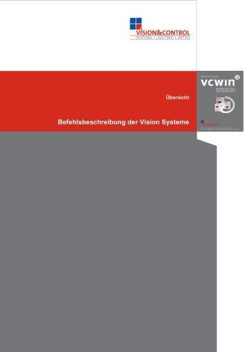Befehlsbeschreibung der Vision Systeme - Vision & Control