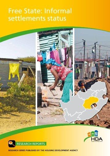 Free State: Informal settlements status - Housing Development Agency