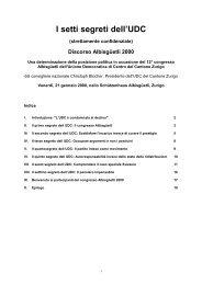 I setti segreti dell'UDC - Christoph Blocher