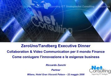 Analisi dello scenario Unified Communication ... - ZeroUno