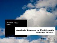 A aquisição de serviços em Cloud Computing ... - Computerworld