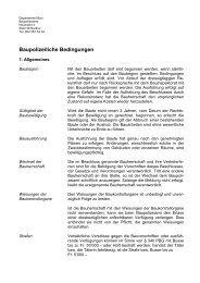 Baupolizeiliche Bedingungen - Departement Bau - Winterthur