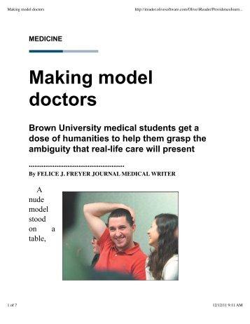 Making model doctors - Alpert Medical School - Brown University