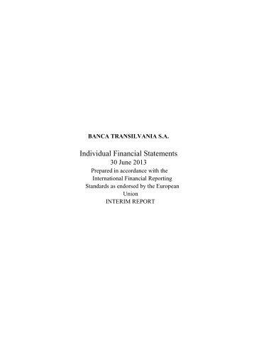 Financial Results H1 2013 - Banca Transilvania