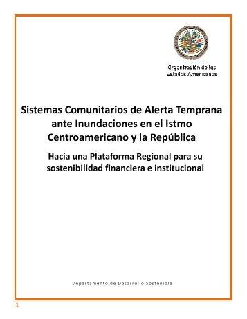 Sistemas Comunitarios de Alerta Temprana - Red Interamericana ...