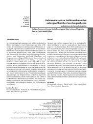 Rahmenkonzept zur Gefahrenabwehr bei auûergewöhnlichen - deNIS