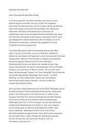 Michael Müller Verlag - Newsletter 11.2004