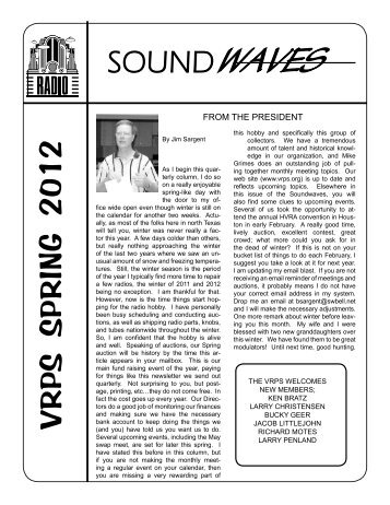 Soundwaves April 2012 - Vintage Radio and Phonograph Society