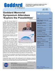 Goddard Memorial Symposium Attendees 'Explore the ... - NASA