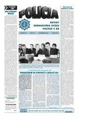 pozri aj mesačník POLÍCIA č. 11/2004 - Odborový zväz polície v ...