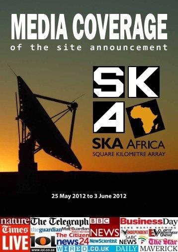 Portfolio of news coverage - SKA