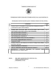 1 NORTH EASTERN RAILWAY TENDER DOCUMENT FOR OPEN ...