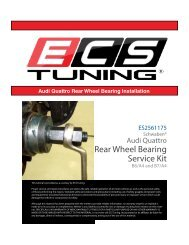 Audi Quattro Rear Wheel Bearing Service Kit